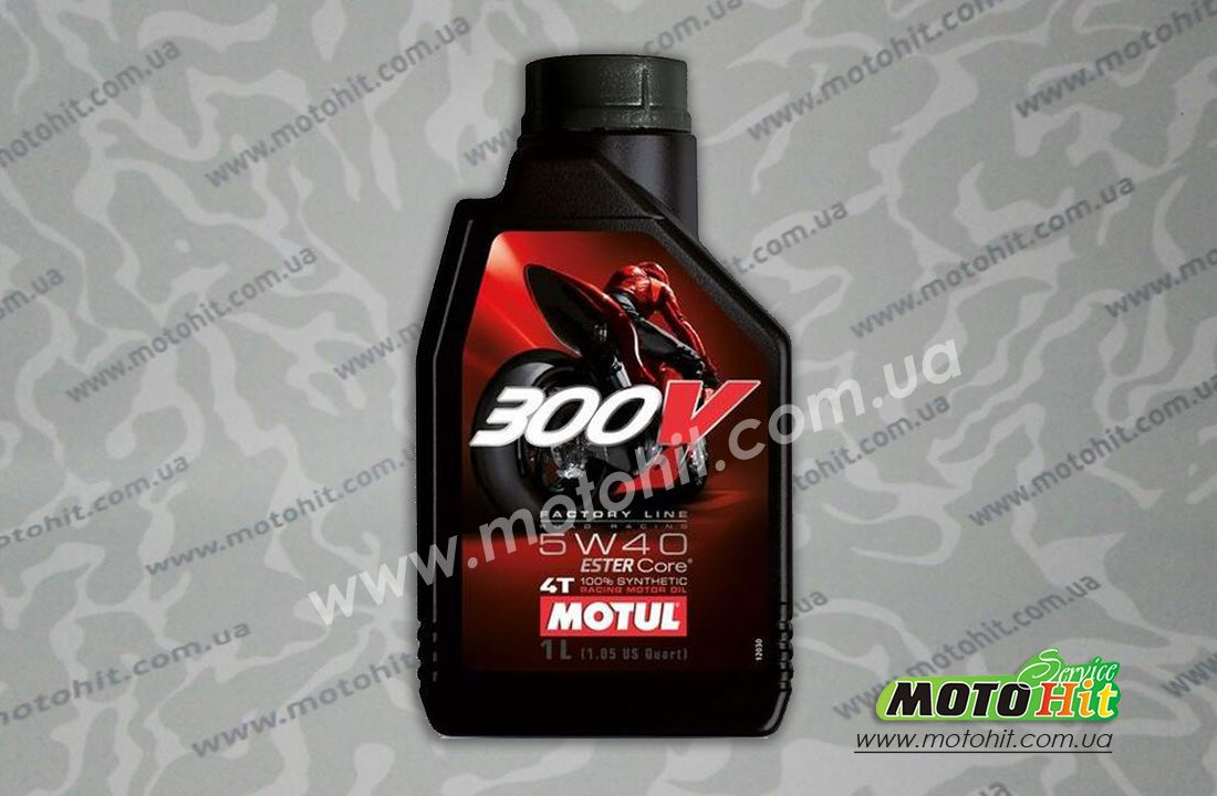 300V 4T FACTORY LINE ROAD RACING SAE 5W40 (1L)  в магазине MotoHit Service.